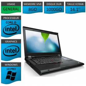 Thinkpad T420 Core i5 8Go 1000Go Windows 10