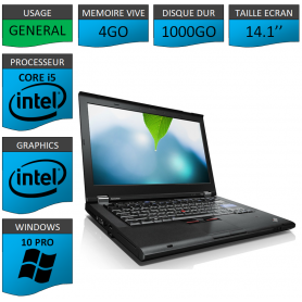 Thinkpad T420 Core i5 4Go 1000Go Windows 10