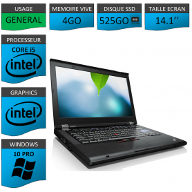 Thinkpad T420 Core i5 4Go SSD525 Windows 10