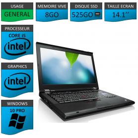Thinkpad T420 Core i5 8Go SSD525 Windows 10