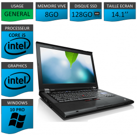Thinkpad T420 Core i5 8Go SSD128 Windows 10