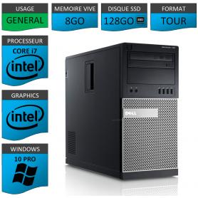 Dell Optiplex 790 Core i7 8go 128SSD Windows 10 Pro