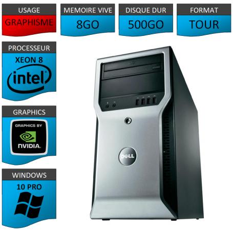 DELL PRECISION T1600 8Go 500Go Windows 10