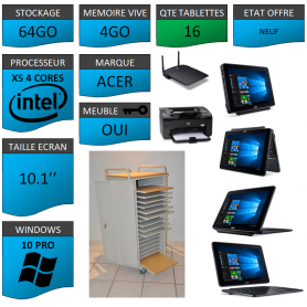 Classe Mobile 16 tablettes 4Go Windows 10 Pro