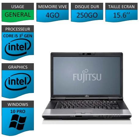 Fujitsu Lifebook e752 i5 4Go 250Go W10P