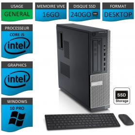 Dell Optiplex Core i5 16go 240SSD Windows 10 Pro CSF