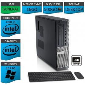 Dell Optiplex Core i5 16go 500SSD Windows 10 Pro CSF