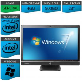 Hp 8300 aio i7 4Go 500Go Windows 7 Pro