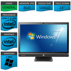 Hp 8300 aio i7 8Go 500Go Windows 7 Pro