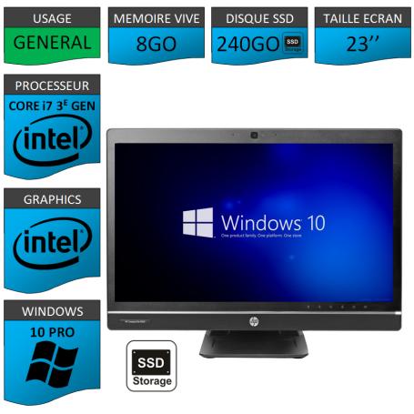 Hp 8300 aio i7 8Go 240SSD Windows 10 Pro