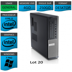 Dell Optiplex 790 Core i5 4go 250Go