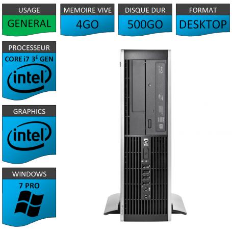 HP Elite 8300 i7 4Go 500Go W7P