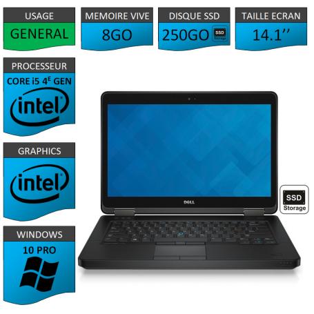 DELL Latitude e5440 i5 8Go 250SSD Windows 10 Pro