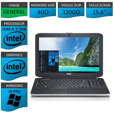 Dell latitude e5530 i5 4Go 320Go Windows 10 Pro