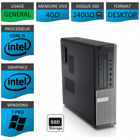 Ordinateur i5 DELL 4Go SSD240 Windows 7 Pro
