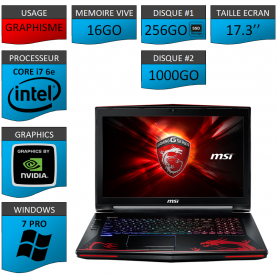 MSI Dominator Pro G 16Go SSD256 17.3'' W7P GAMER