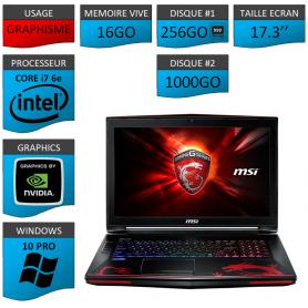 MSI Dominator Pro G 16Go SSD256 17.3'' W10P GAMER