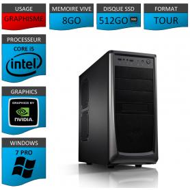 Station Graphique Core i5 8Go 512SSD 1000Go Nvidia Quadro K620