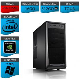 Station Graphique Core i5 16Go 512SSD 1000Go Nvidia Quadro K620