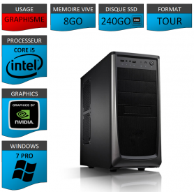 Station Graphique Core i5 8Go 240SSD 1000Go Nvidia Quadro K1200