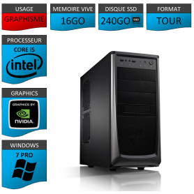 Station Graphique Core i5 16Go 240SSD 1000Go Nvidia Quadro K1200
