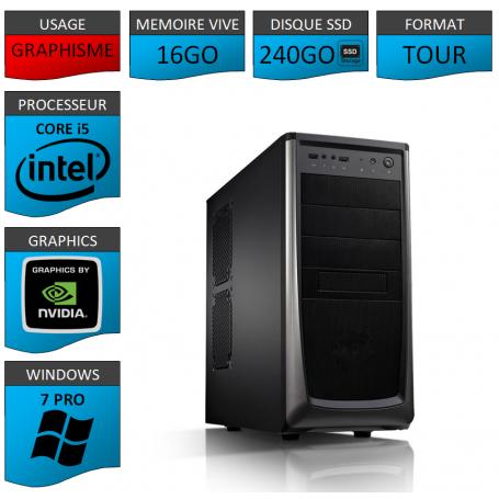 Station Graphique Core i5 16Go 240SSD 1000Go Nvidia Quadro K1200
