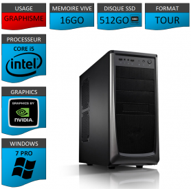 Station Graphique Core i5 16Go 512SSD 1000Go Nvidia Quadro K1200