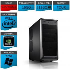 Station Graphique Core i5 16Go 512SSD 1000Go Nvidia Quadro K1200