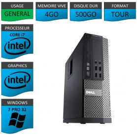DELL i7 4Go 500Go Windows 7 Pro 32