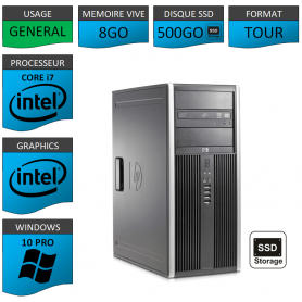 PC HP Core i7 8Go SSD512Go Windows 10 pro