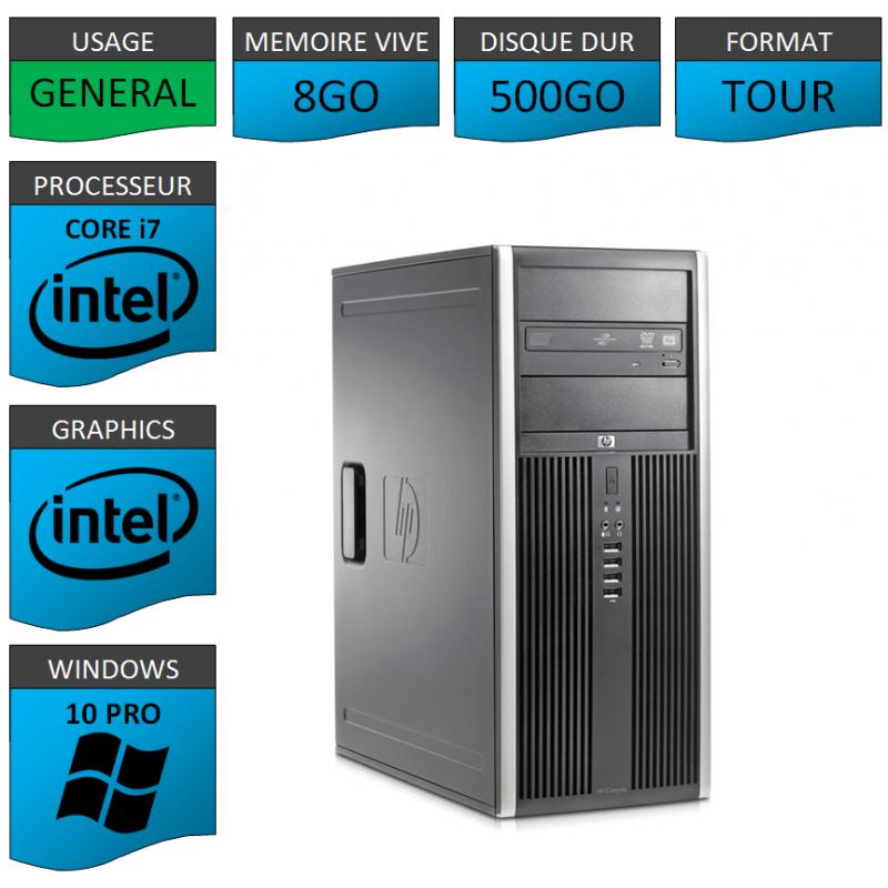 PC HP Elite Core i7 8Go 250Go Windows 10 pro