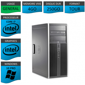 PC HP Elite Core i7 4Go 250Go Windows 10 pro