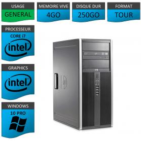 PC HP Elite Core i7 4Go 250Go Windows 10 pro