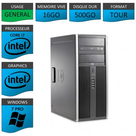 HP Elite 8300 i7 16Go 500Go W7P