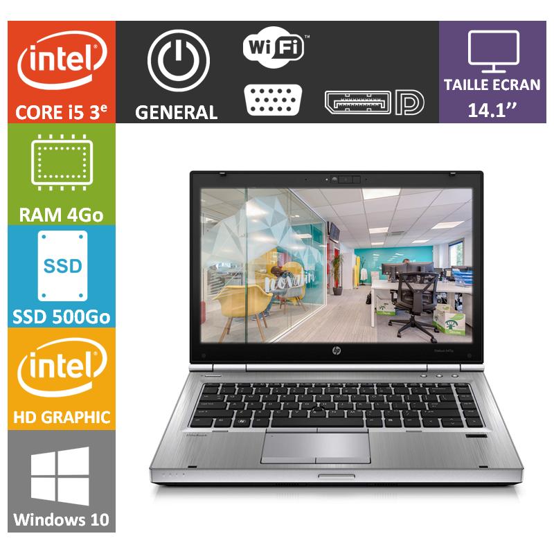 Hp elitebook i5 4Go 500SSD Windows 10 Pro