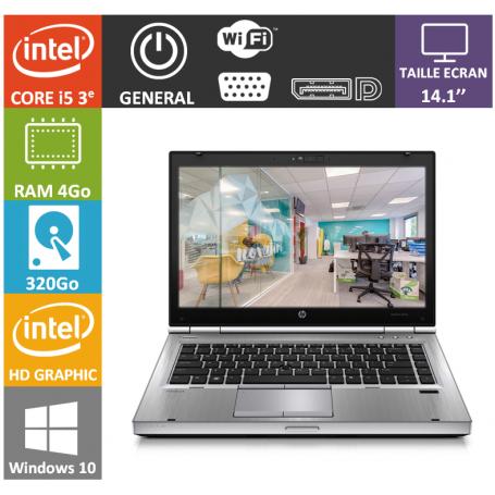 Hp elitebook i5 4Go 320Go Windows 10 Pro