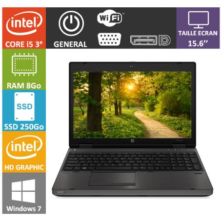 HP Probook 6570b i5 8Go 256SSD W7P