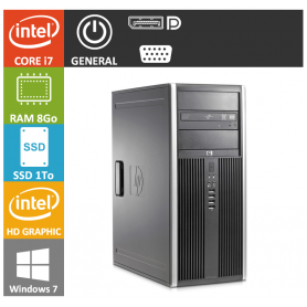 PC HP Core i7 8Go SSD1000 Windows 7 pro