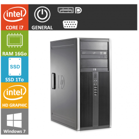 PC HP Core i7 16Go SSD1000 Windows 7 pro