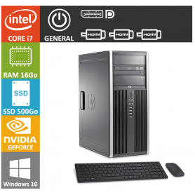 PC HP Core i7 16Go SSD500 GTX 1050 W10P