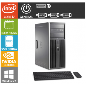 PC HP Core i7 16Go SSD500 GTX 1050 W7P