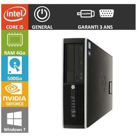 PC HP Core i5 4Go 500Go Garanti 3 ans Windows 7 Pro