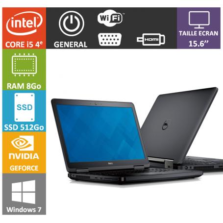 DELL Latitude e5540 8Go 512Go SSD Windows 7 Pro