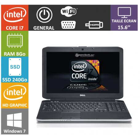 DELL Latitude 15.6'' i7 8Go SSD 240Go Windows 7 Pro