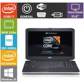 DELL Latitude 15.6'' i7 16Go SSD 240Go Windows 10 Pro
