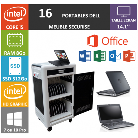 Classe Mobile 16 DELL Core i5 14.1'' 8Go SSD 512 HDMI OFFICE