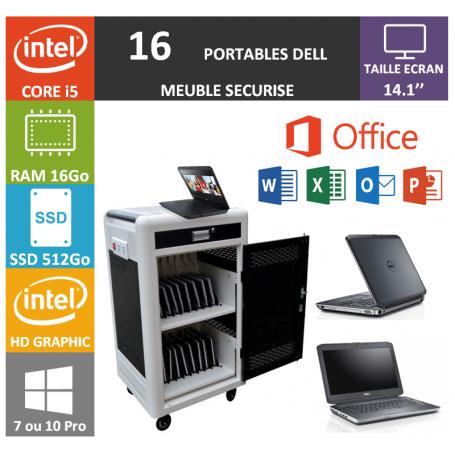 Classe Mobile 16 DELL Core i5 14.1'' 16Go SSD 512 HDMI OFFICE