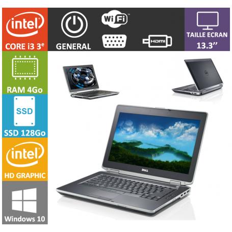 Dell latitude e6330 SSD i3 - 4Go 128Go SSD Windows 10 Pro