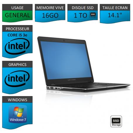 Dell latitude e6430U i5 16Go SSD 1To Windows 7 Pro