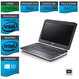 pc portable dell I5 8Go SSD 130Go